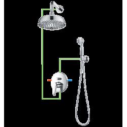Omnires Art Deco Zestaw Prysznicowy Punktowy Podtynkowy 1-funkcyjny Deco-PP