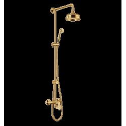 Omnires Art Deco System Prysznicowy Suwany Złoto Art Deco-S ZL
