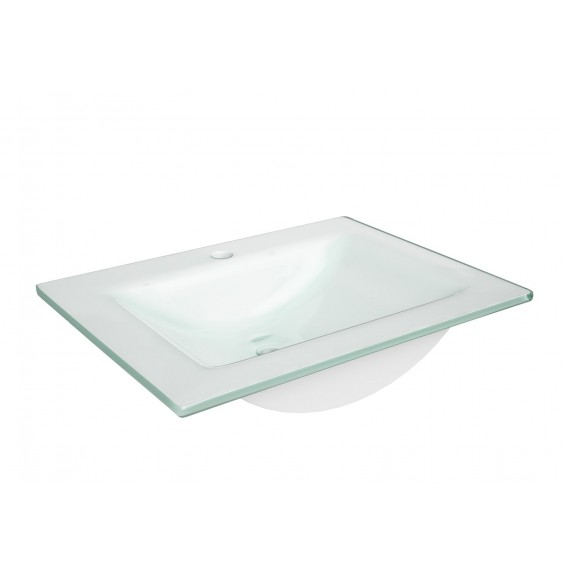 Defra Puro 60 Umywalka z Białego Szkła (3072)