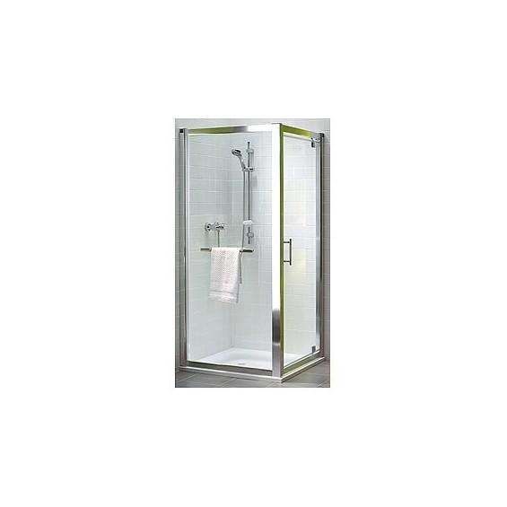 Koło Akord 80 Drzwi Pivot Szkło Przezroczyste Profile Srebrny półmat RDRP80222005