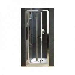 Koło Akord 80 Drzwi Bifold Szkło Przezroczyste Profile Srebrny półmat RDRB80222005