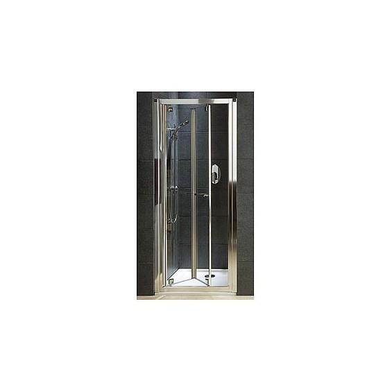 Koło Geo 6 80 Drzwi Bifold Szkło Przezroczyste Profile Srebrny połysk GDRB80222003
