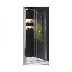 Koło Geo 6 80 Drzwi Pivot Szkło Przezroczyste Profile Srebrny połysk GDRP80222003