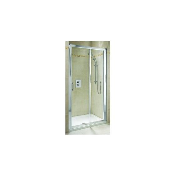 Koło Geo 6 100 Drzwi Rozsuwane Szkło Przezroczyste Profile Srebrny połysk GDRS10222003