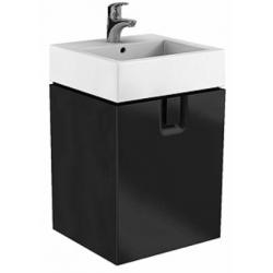 Koło Twins 50 Czarny mat Szafka z 1 szufladą z umywalką (89497+ L51950)