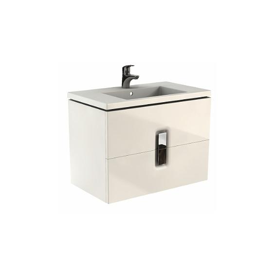 Koło Twins 80 Białe Szafka z 1 szufladą z umywalką (89550+ L51980)