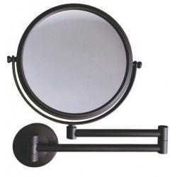 Stella Dodatki Lusterko kosmetyczne proste/ powiększ.3x, uchylne, podwójne ruchome ramię / czarny mat 22.01130-B