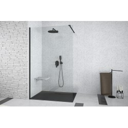 Besco Aveo Black Kabina Prysznicowa Walk In 90x195