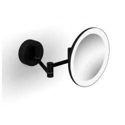 Stella Dodatki Czarne Lusterko kosmetyczne powiększające 3x z podświetleniem LED Cieple/Zimne 22.00230-B