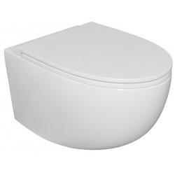 Excellent Esedra Bull Miska WC Wisząca Bezrantowa 53x36 cm + Deska Wolnoopadająca Slim Biały połysk CESD.WCSBLR + CESD.CWBLRF