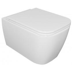 Excellent Esedra Quadra Miska WC Wisząca 55x36 cm Biały Połysk + Deska Wolnoopadająca CESD.WCSQDR + CESD.CWQDRF