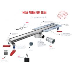 Wiper New Premium Slim Mistral 50 cm - Zestaw (Odpływ+Mankiet+Nóżki) 100.3385.01.050