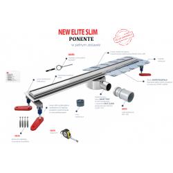 Wiper New Elite Slim 50 cm - Zestaw (Odpływ+Mankiet+Nóżki)