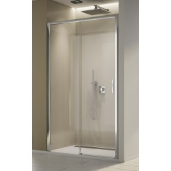 SanSwiss Top-Line S Drzwi Prysznicowe Lewe TLS2 NA WYMIAR (100-180 cm) Szkło Pas Satynowy Poziomy TLS2GSM15051
