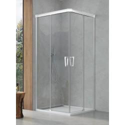 SanSwiss Cadura Kabina Prysznicowa CAE2 G+D 70 x70 cm Szkło Przezroczyste CAE2G0705007+CAE2D0705007