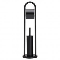 Sealskin Acero Black Stojak na papier ze szczotką wc (361733619)
