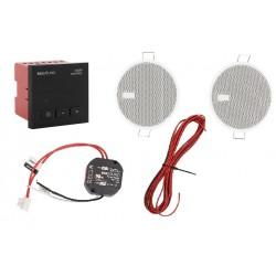KB Sound Audio Control Unit Jednostka Sterująca + Głośniki 2.5' In-Wall Czarny 09253