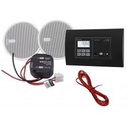 KB Sound Zestaw Audio Receiver Odtwarzacz Bluetooth In-Wall + Radio Dab Czarny Z Głośnikami 2.5 52908+32802+19154