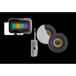 AquaSound N-Joy WI-FI Nagłośnienie do łazienki (MP3, RADIO INTERNETOWE, WI-FI, IPX6) EMC50X-SW (GŁOŚNIKI SAMBA BIAŁE )