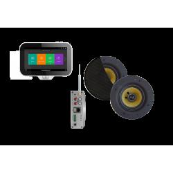 AquaSound N-Joy WI-FI Nagłośnienie do łazienki (MP3, RADIO INTERNETOWE, WI-FI, IPX6) EMC50X-SZ (GŁOŚNIKI SAMBA CZARNY MAT )
