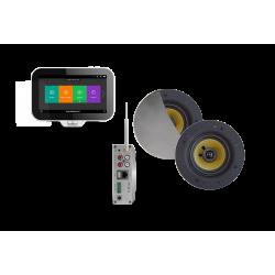 AquaSound N-Joy WI-FI Nagłośnienie do łazienki (MP3, RADIO INTERNETOWE, WI-FI, IPX6) EMC50X-SC (GŁOŚNIKI SAMBA)