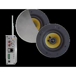 AquaSound Zestaw Wi-Fi Z Głośnikami Białymi 65 W Samba WMA50-SC