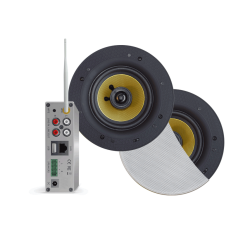 AquaSound Zestaw Wi-Fi Z Głośnikami Białymi 65 W Samba WMA50-SW