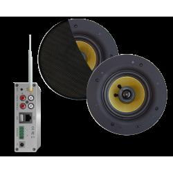 AquaSound Zestaw Wi-Fi Z Głośnikami Czarnymi 65 W Samba WMA50-SZ