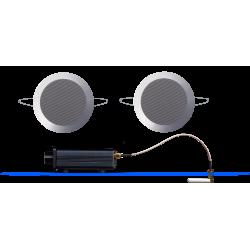 AquaSound Odtwarzacz Audio Bluetooth / AUX Z Głośnikami Chrom-Mat Twist BMN50Easy-TC