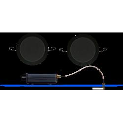 AquaSound Odtwarzacz Audio Bluetooth / AUX Z Głośnikami Czarnymi Twist BMN50Easy-TC