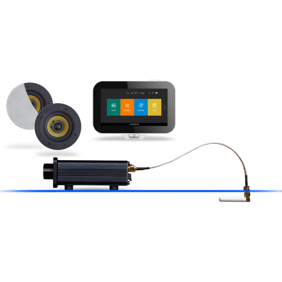 AquaSound N-Joy Nagłośnienie do łazienki (MP3, RADIO INTERNETOWE, BLUETOOTH, IPX6) EMC50Pro-Square