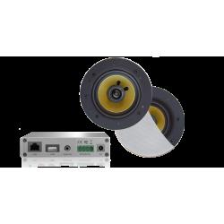 AquaSound Wzmacniacz Wi-Fi Z Głośnikami Rumba 45W WMA30-RW
