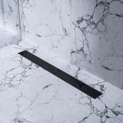 Bravat Odwodnienie prysznicowe Black Glass Steel Drain 700mm