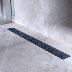 Bravat Odwodnienie prysznicowe Black Matt Line Steel Drain 600mm