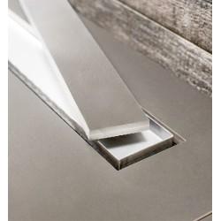 Bravat Odwodnienie prysznicowe Seamless 2 in 1 Steel Drain 550mm