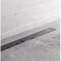 Bravat Odwodnienie prysznicowe Seamless Black Glass Steel Drain 550mm