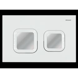 Przycisk spłukujący biały/chrom BVT-Z/WCHR