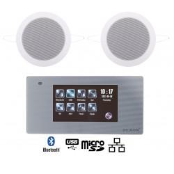 Dexon Odtwarzacz Ścienny Bluetooth Wi-Fi-LAN Radio FM / USB / SD z Wodoodpornymi Głośnikami Twist (MRP 2200+Twist)