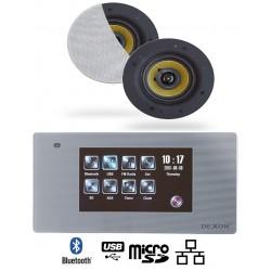 Dexon Odtwarzacz Ścienny Bluetooth Wi-Fi-LAN Radio FM / USB / SD z Głośnikami COCO (MRP 2200+COCO)