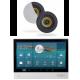 Dexon Odtwarzacz Ścienny Wi-Fi Android BT/USB/SD Dwustrefowy z Głośnikami COCO (MRP 4205+COCO)