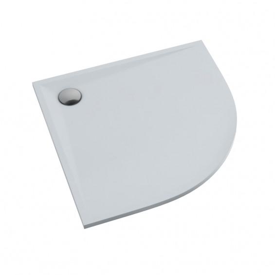 Schedline Collection Libra Smooth White Brodzik Akrylowy 80x80 Półokrągły (3SP.L1O-8080)