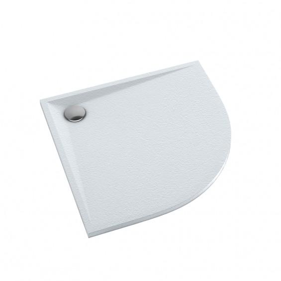 Schedline Collection Libra White Stone Brodzik Akrylowy 80x80 Półokrągły (3SP.L4O-8080)