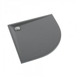 Schedline Collection Libra Anthracite Stone Brodzik Akrylowy 80x80 Półokrągły (3SP.L2O-8080)