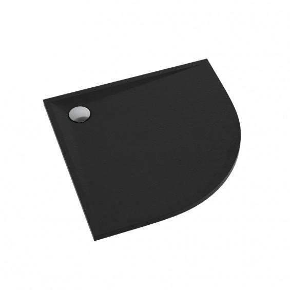 Schedline Collection Libra Black Stone Brodzik Akrylowy 80x80 Półokrągły (3SP.L6O-8080)