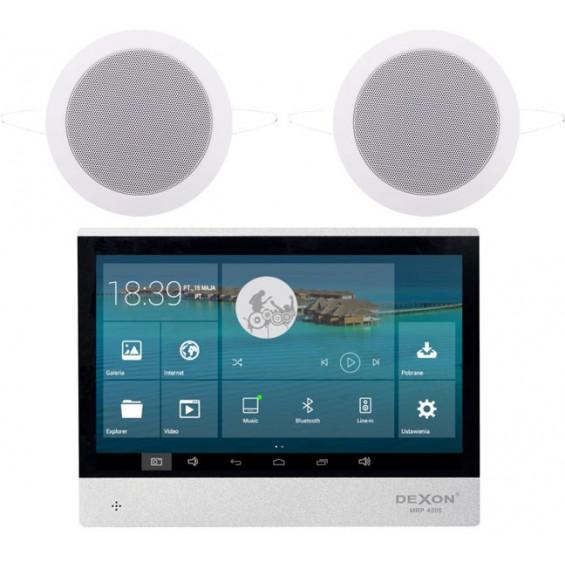 Dexon Odtwarzacz Ścienny Wi-Fi Android BT/USB/SD Dwustrefowyz Wodoodpornymi Głośnikami Twist (MRP 4205+Twist)