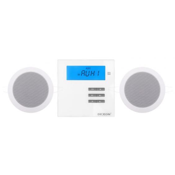 Dexon Odtwarzacz Ścienny Bluetooth / Radio FM z Głośnikami Twist (MRP 2171+Twist)