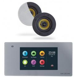 Dexon Odtwarzacz Ścienny Bluetooth, Wi-Fi - LAN Radio Internetowe /USB/SD z Głośnikami COCO (MRP 2201+COCO)