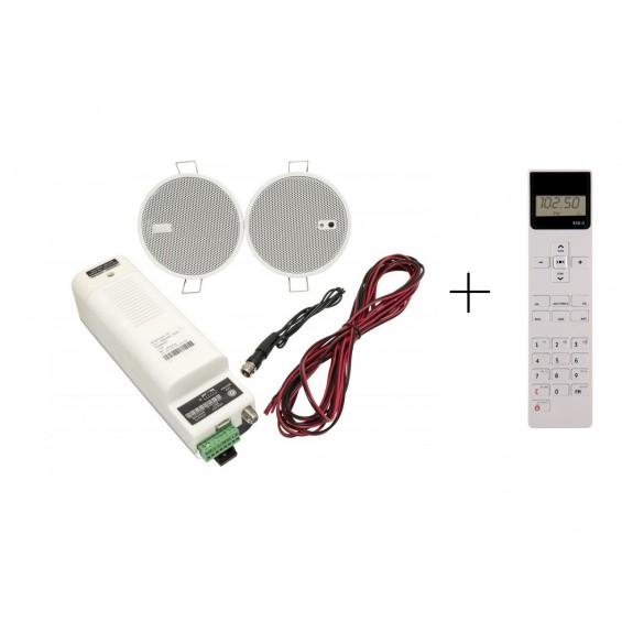 KB Sound IStar 2,5 z Pilotem Głośniki Białe Bluetooth DAB+ 50C07
