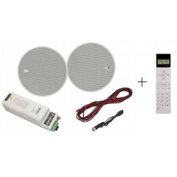 Eis Sound KBSOUND ISTAR 5 z Pilotem Głośniki Białe Bluetooth 50C05