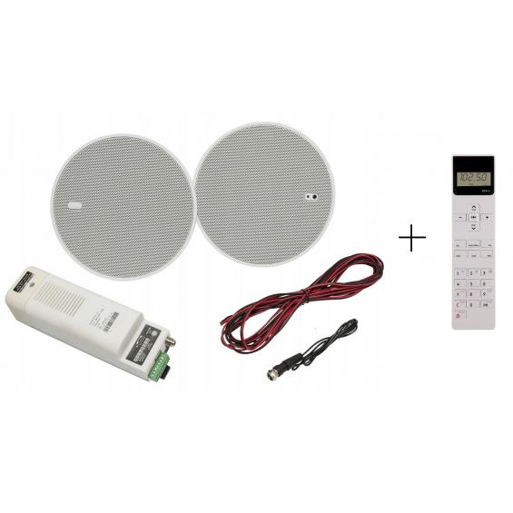 KB Sound ISTAR 5 z Pilotem Głośniki Białe Bluetooth 50C05